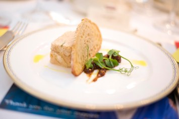 Salmon terrine starter at Luton Hoo Hotel