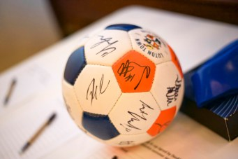 Signed Luton Town FC football at a charity auction