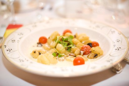 Gnocchi main course at Luton Hoo Hotel