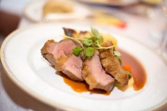 Lamb main course at Luton Hoo Hotel