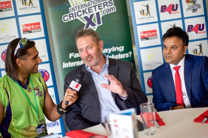 Lords Cricket Ground B4U presenter interviewing England cricketer
