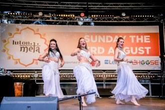 Bollywood dancers performing at Luton Mela