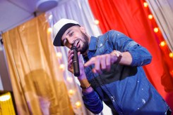 Singer Nafees performing at a water aid charity event