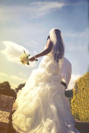 Bride on her wedding day at Putteridge Bury