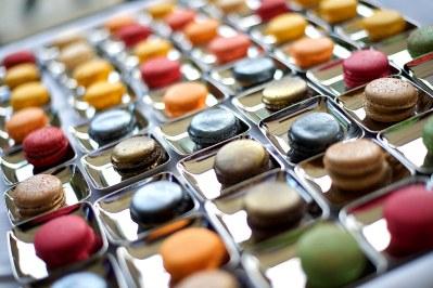 Assorted macaroon flavours wedding desserts