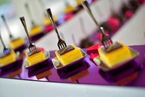 Mini fruit and chocolate dessert wedding canopies